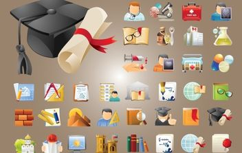 Education and Science Icon Pack - Free vector #174121