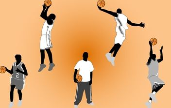 Basketball Player Pack - vector gratuit #174161