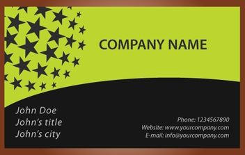Black Star Business Card - vector #174241 gratis