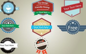 Vintage Badge Pack Template - vector gratuit #174311