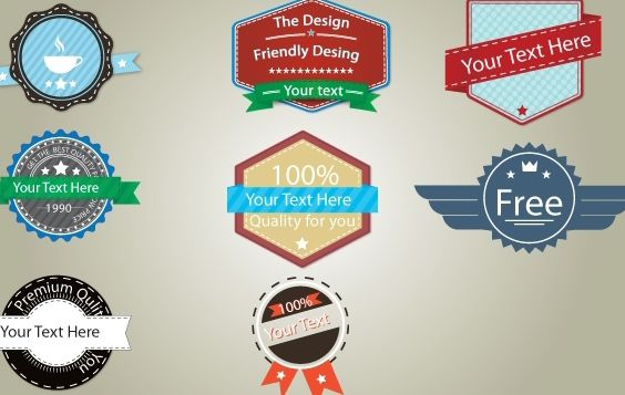 Vintage Badge Pack Template - Free vector #174311