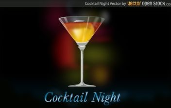 Cocktail Night - vector gratuit #174411