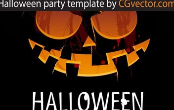 Halloween party template - vector gratuit #174711
