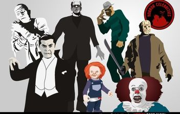Horror Celebrities - vector gratuit #174731