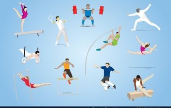Olympic Sports Vector - vector #174781 gratis