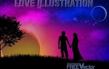 Vector Love Illustration - Free vector #174791