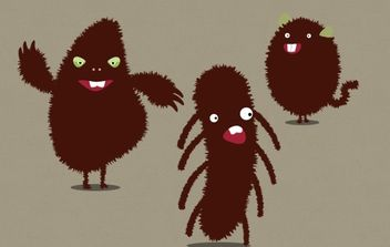 Funny Little Monsters - vector gratuit #174861