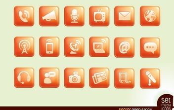 Media Icons - vector gratuit #174881