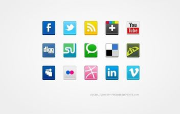 Vector Social Media Icons - vector gratuit #175031