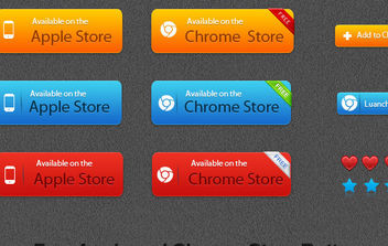 Free Apple and Chrome Store Vector Button - vector gratuit #175041