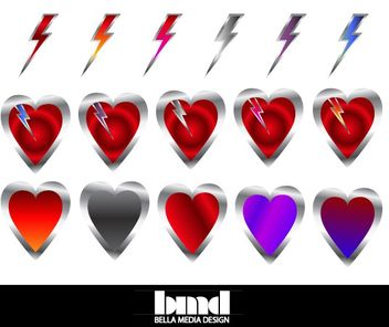 Hearts and Bolts - vector gratuit #175051