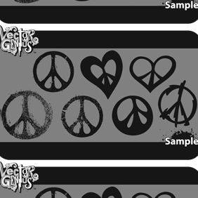 Free Peace Sign Vector Graphics - Free vector #175061