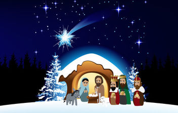 Christmas Nativity Scene 2 - Free vector #175081