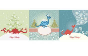 Christmas Greeting cards - Free vector #175091