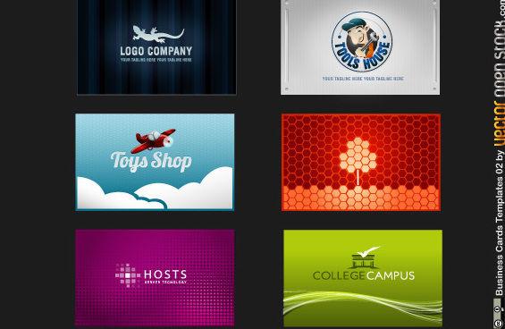 Visitenkarten vorlagen 02 kostenloser vektor download for Visitenkarten gratis vorlagen
