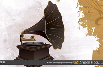 Retro Phonograph Sound - Free vector #175281