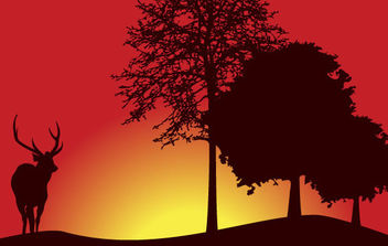 Tree Landscape Vector - бесплатный vector #175391