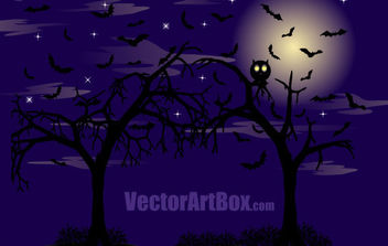 Dark Forest Poster - Free vector #175451