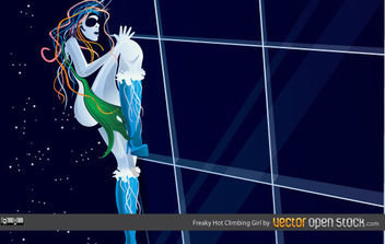 Freaky Hot Climbing Girl - vector gratuit #175501