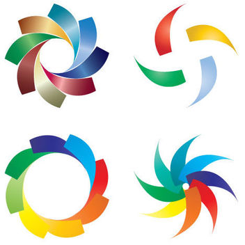 Different colored logos - Free vector #175561