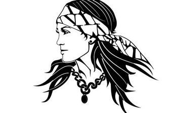 Gypsy Woman Image - vector #175591 gratis