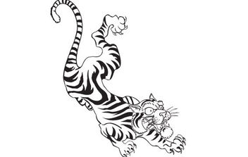 FREE TATTOO STYLE VECTOR TIGER - Kostenloses vector #175711