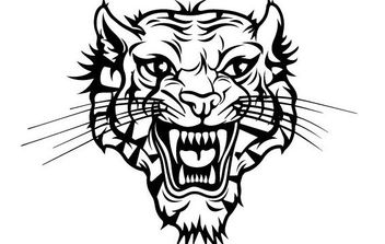 Tiger Head Vector - vector #175721 gratis