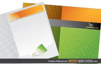 Creative Stationary Template - vector gratuit #175791