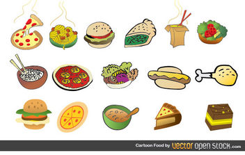 Cartoon Foods - vector gratuit #175841