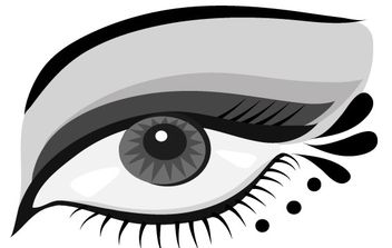 Hand-painted Eyes Vector - Free vector #175851