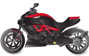 Ducati Diavel Motorcycle Vector - бесплатный vector #175891