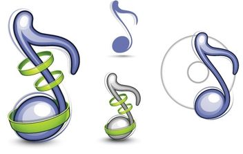 Musical Note Vector Illustration - vector gratuit #175991