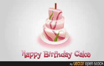 Happy Birthday Cake - vector gratuit #176011