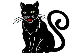 Black Cat Image 2 - Free vector #176021