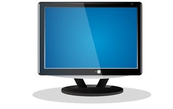 Flat Screen LCD Television - Free vector #176061