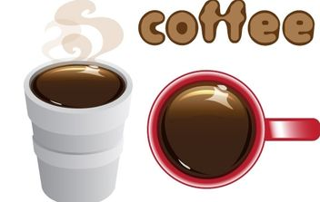 Coffee in Styrofoam Cup and Mug - vector #176141 gratis