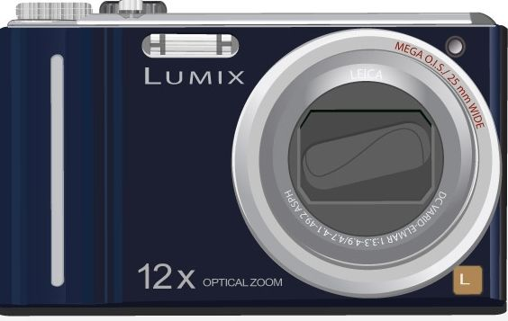 Lumix Camera Vector Art - Free vector #176181