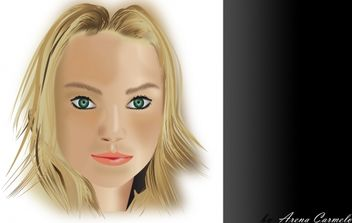 Women Face - vector gratuit #176221