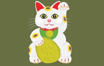 Lucky Cat - Free vector #176251