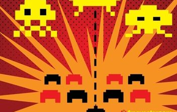 Space Invaders Vector - vector #176341 gratis