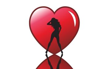 Sexy Valentines Vector Heart - Free vector #176361