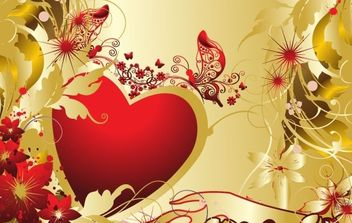 Valentines Card - Free vector #176411