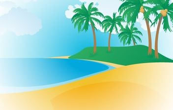 148-Tropical Beach - vector gratuit #176481