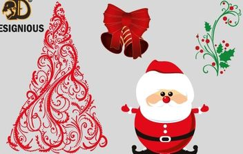 Vector christmas elements - vector gratuit #176741
