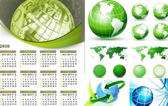 Earth Theme Vector - Free vector #176831