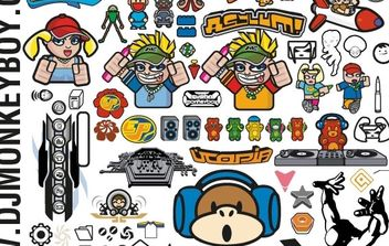 Mixed Characters and Other Stuff Free Vectors - vector #176921 gratis
