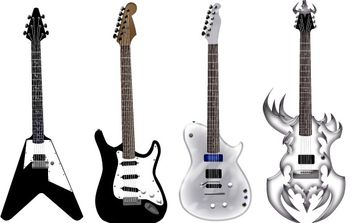 Guitar free vector pack - Different shape - Kostenloses vector #177051