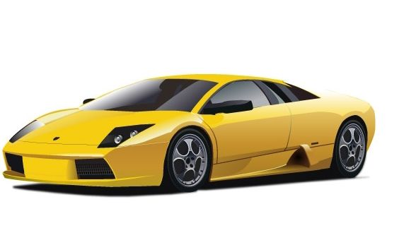 Yellow Lamborghini Free Vector Download 177121 Cannypic
