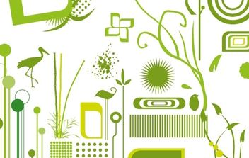 Green objects free vectors - vector gratuit #177291