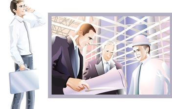 Business people 7 - vector gratuit #177311